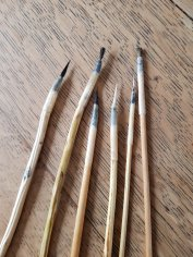 Some of my handmade paint brushes
