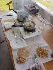 Boiling and cleaning pine resin before DW to Master Johannis